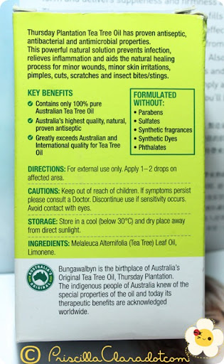 Priscilla review Thursday Plantation tea tree oil 3